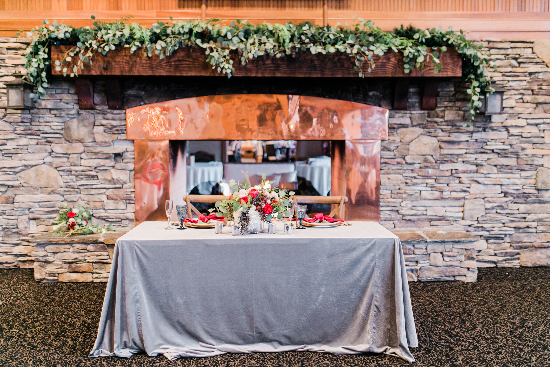 Dove Grey Plush Velvet, Mountain Wedding