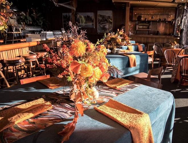 Mandarin Tavira Table Linen, Orange Textured Table Cloth
