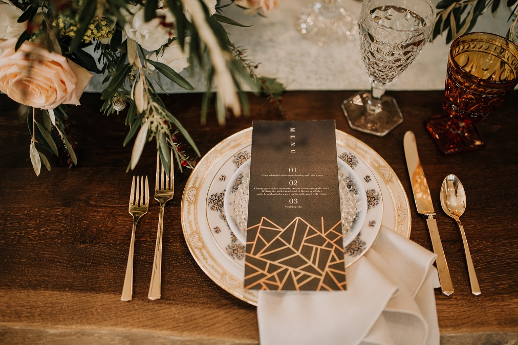 Oat Linnea Napkin, Natural Linen Napkin, Geometric Wedding Menu