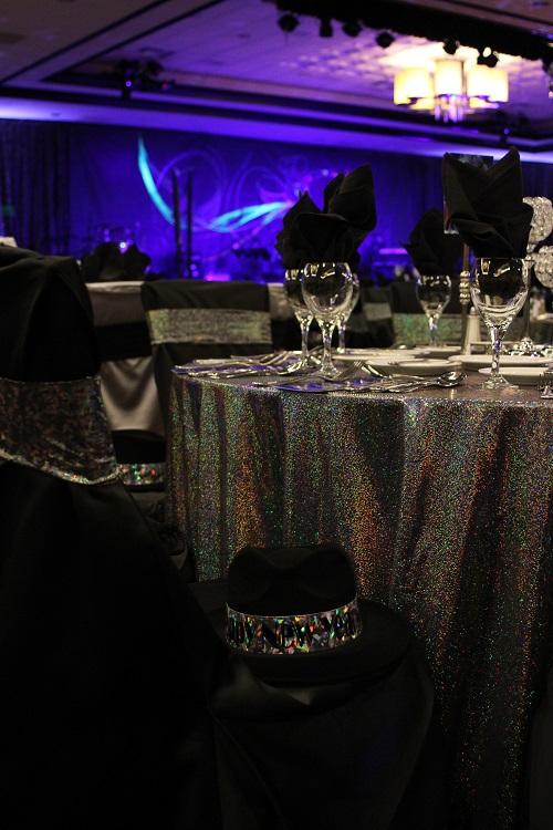 Studio 54 Table Cloth, Disco Ball Table Linen, Mutli Color Table Cloth