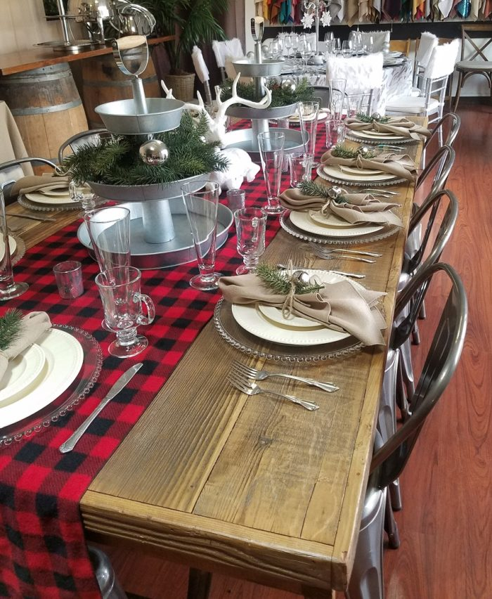 Buffalo Check Runner, Red and Black Plaid Runner, Red and Black Check