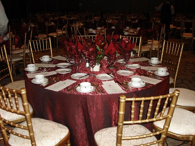 Brick Crush Table Linen, Burgundy Crush Table Linen