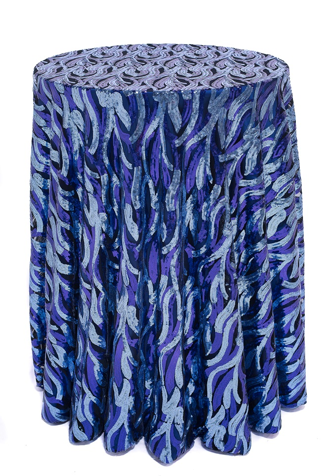 Aquamarine Jazz Sequin Table Cloth, Blue Sequin Table Cloth, Ocean Sequin Table Cloth