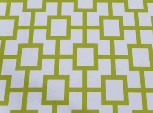 Avocado Piazza Table Linen, Green Geometric Table Cloth