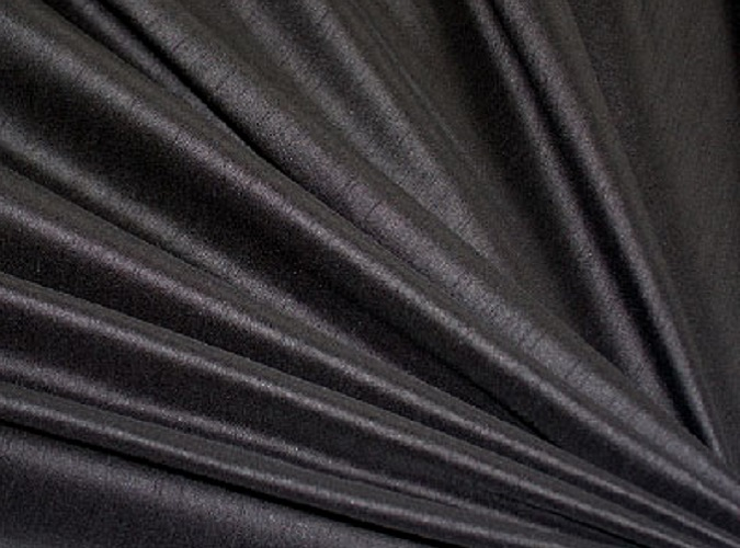 Black Dupioni Table Linen, Black Matte Table Cloth