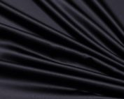 Black Lamour Table Linen, Black Satin Table Cloth