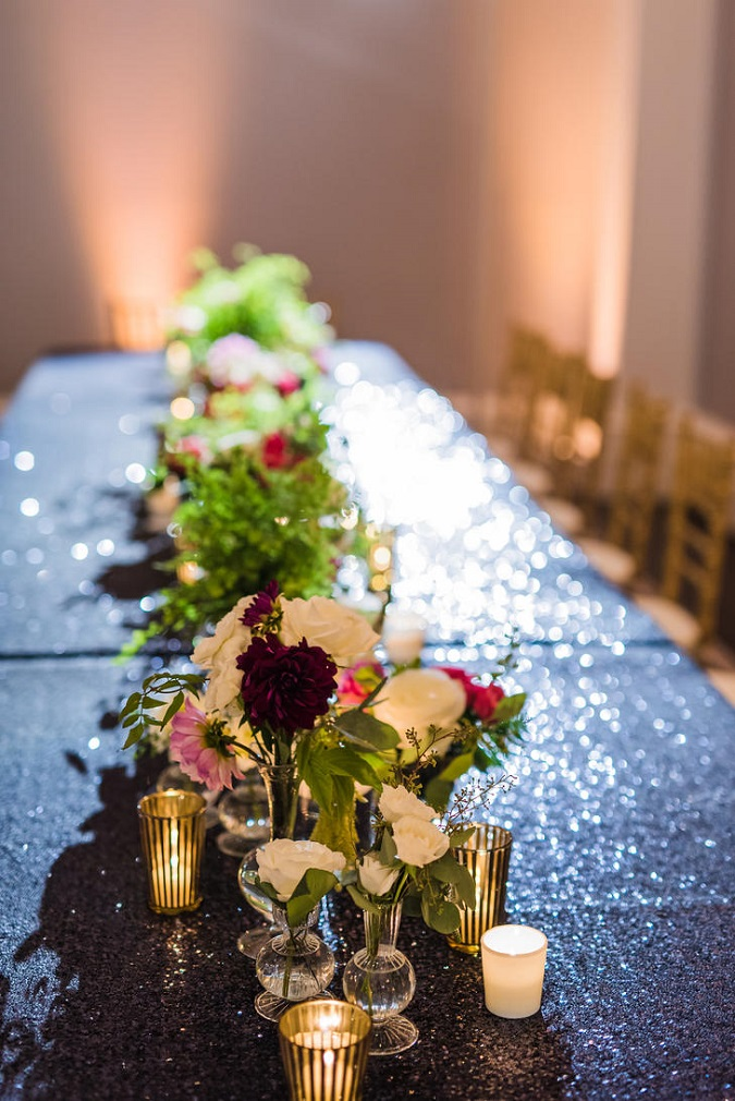 Black Sequin Table Linen, Black Sequin Table Cloth