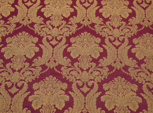 Bordeaux Brocade Table Linen, Red and Gold Brocade Linen