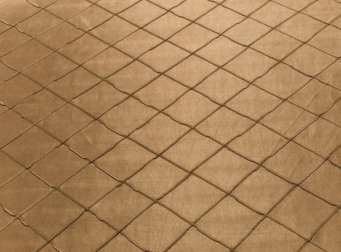 Camel Pintuck Table Linen, Light Brown Pintuck Table Cloth