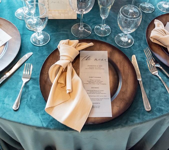 Almond Dupioni Napkin, Tan Matte Table Cloth