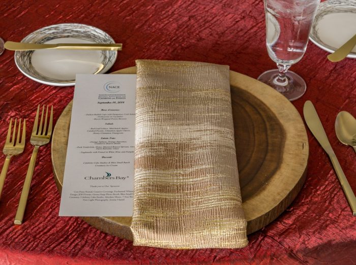 Gold Abstract Napkin, Gold Pattern Table Linen