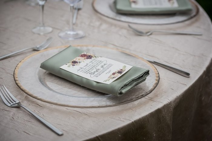 Champagne Crush Table Linen, Light Brown Table Cloth, Sage Lamour Napkin