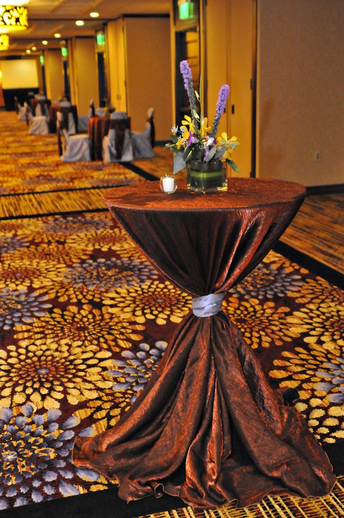 Bronze Crush Table Cloth, Brown Crush Table Linen