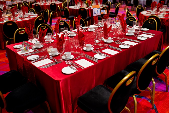 Crimson Shantung Table Linen, Dark Red Table Cloth