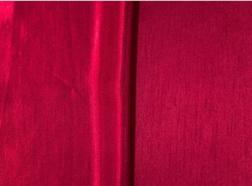 Crimson Shantung Linen, Red Shantung Table Cloth