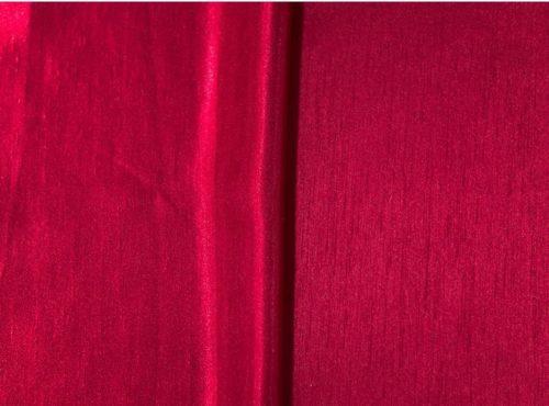 Crimson Shantung Linen, Red Shantung Table Cloth