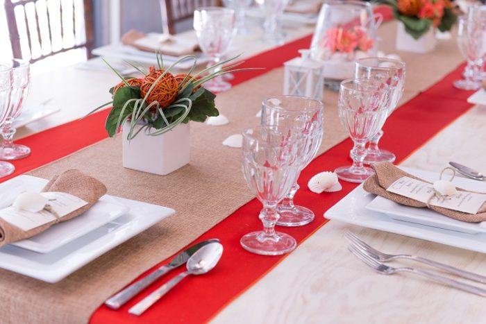 Orange Lamour Table Linen, Bright Orange Table Cloth