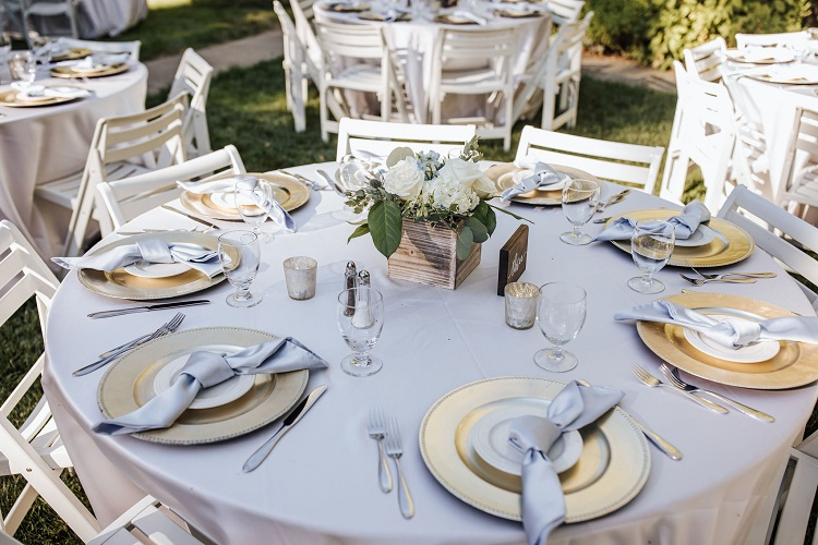 Pastel Blue Lamour Table Linen, Light Blue Satin Table Cloth
