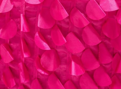 Fuchsia Petal Taffeta Table Linen