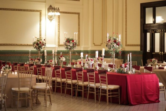 Scarlet Lamour Table Linen, Red Satin Table Cloth