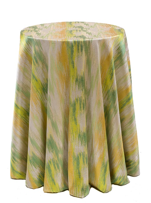 Green Abstract Table Linen, Green and Yellow Table Cloth, Green Pattern Table Cloth