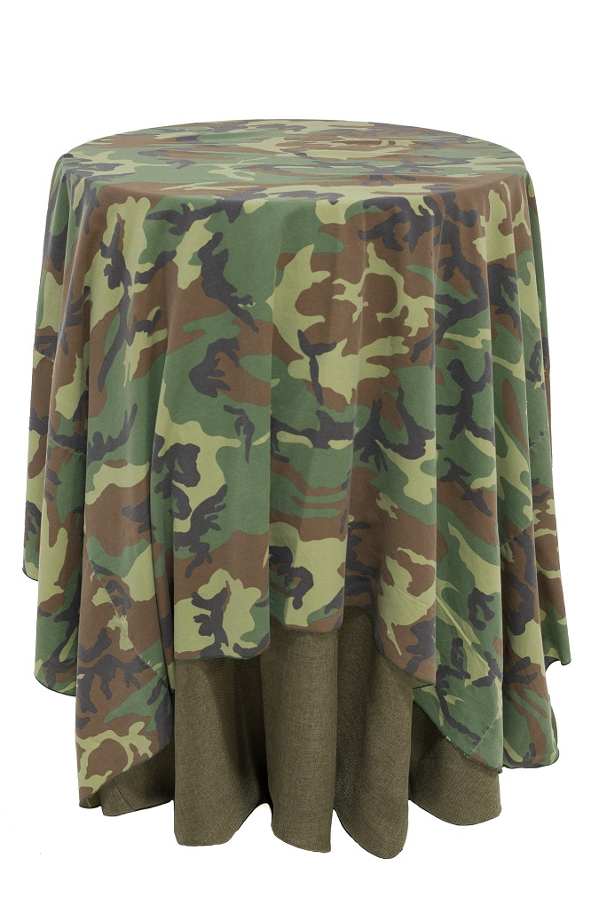 Green Camouflage Table Cloth
