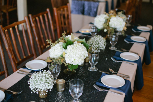 Navy Sequin Table Runner, Dark Blue Sequin Table Cloth