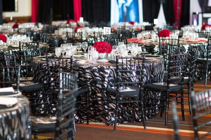 Black and Silver Jazz Sequin Table Cloth, Black Wave Sequin Table Linen, Black Sequin Table Cloth