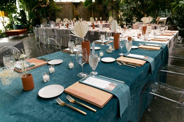 Ocean Blue Plush Velvet Table Linen, Blue Velvet Table Cloth