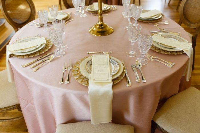 Blush Dupioni Table Linen, Light Pink Table Cloth