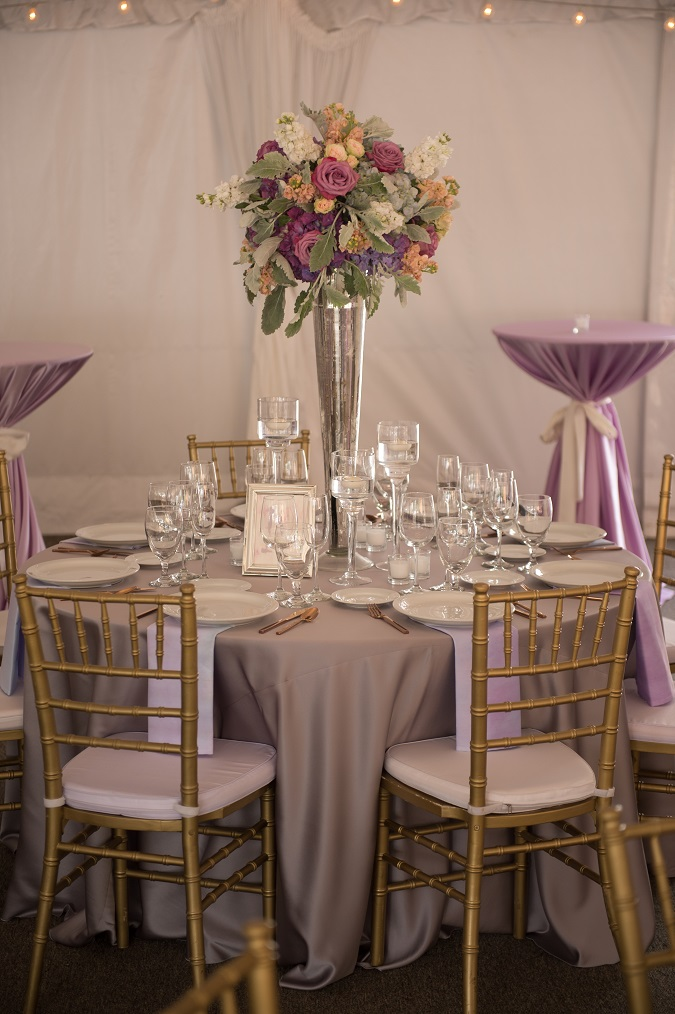 Lavender Lamour Table Linen, Light Purple Satin Table Cloth