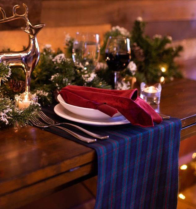 Cambridge Plaid Table Linen, Blue Plaid Table Cloth