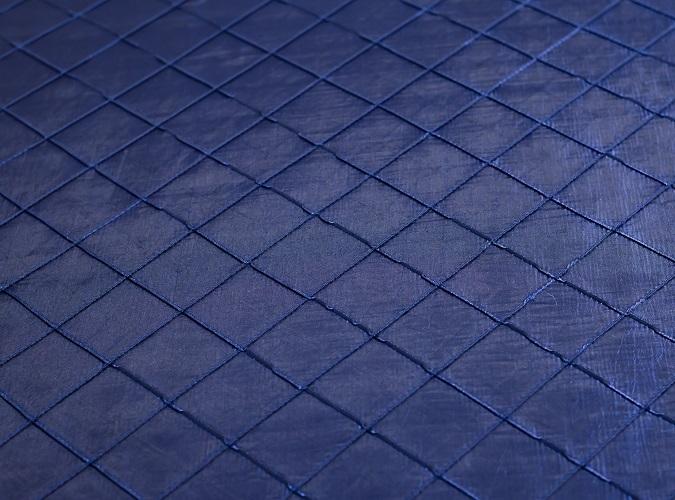 Midnight Blue Pintuck Table Linen, Dark Blue Pintuck Table Cloth