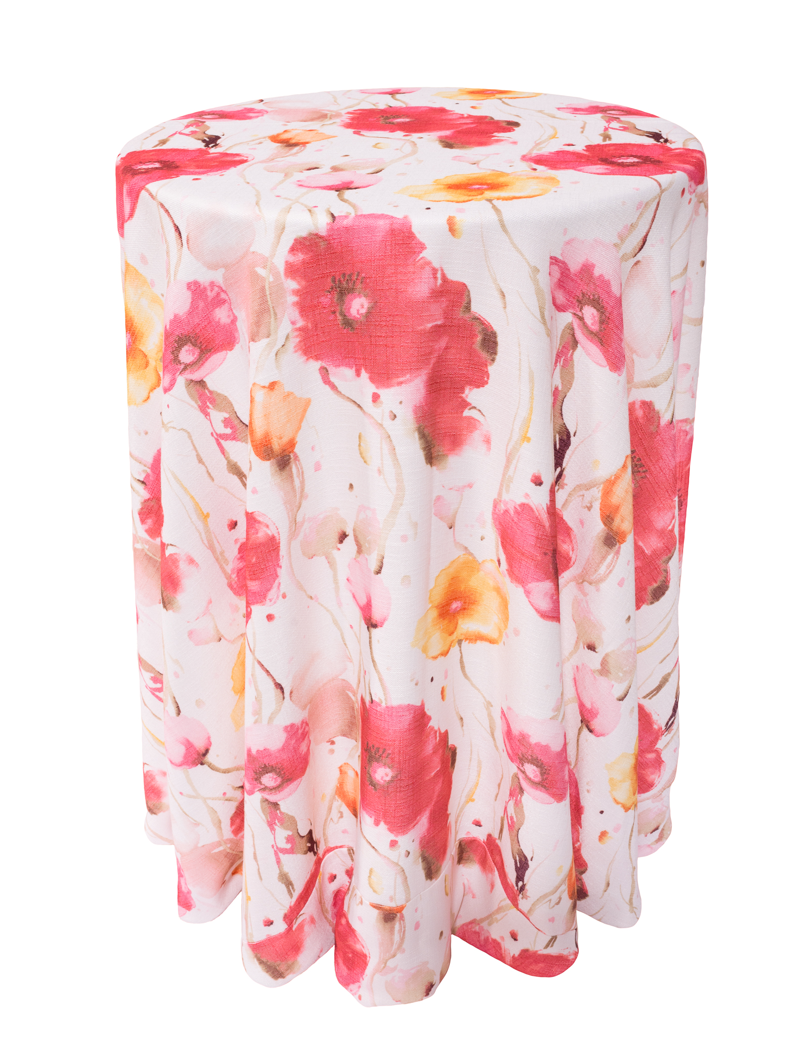 Monet Table Linen, Pink Floral Table Cloth