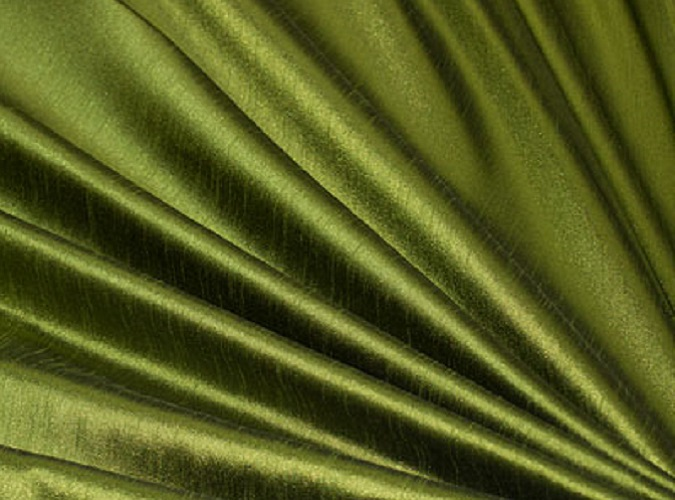 Olive Dupioni Table Linen, Green Table Cloth