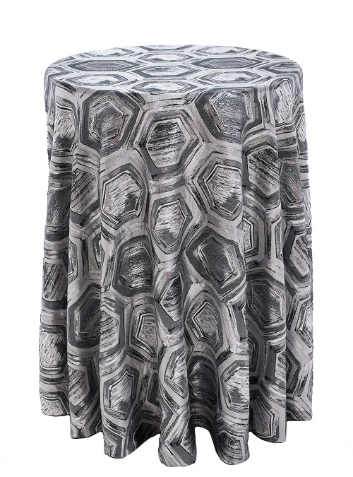 Onyx Prism Table Linens, Black Pattern Table Cloth