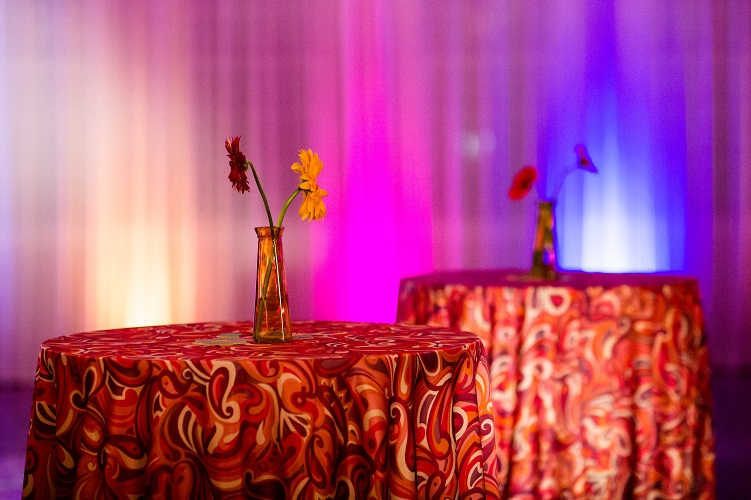 Pink and Orange Paisley Pucci Table Linen, Affinity Photography