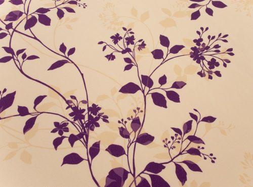 Plum Flora Table Linen