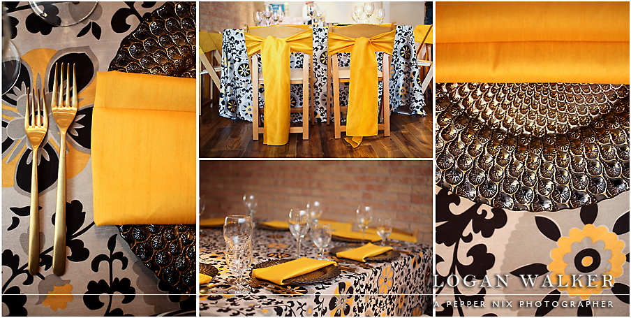 Posy Table Linen, Yellow Floral Table Cloth, Mustard Dupioni Table Cloth