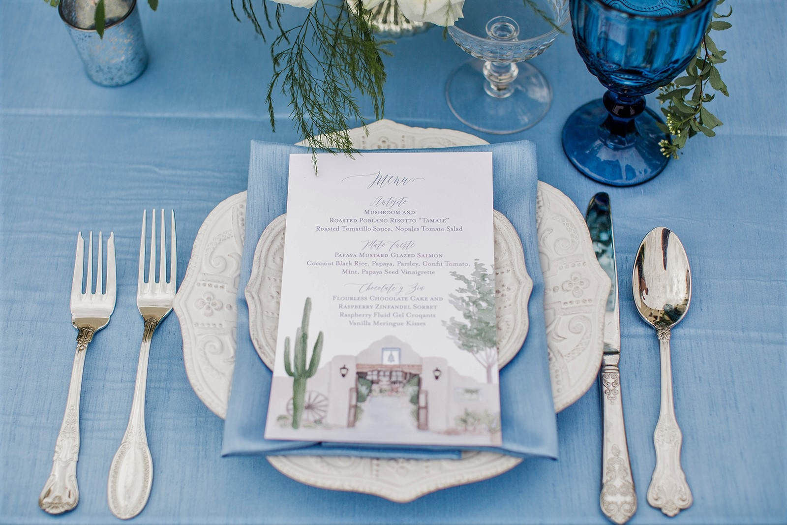 Cornflower Blue Shantung Table Linen, Light Blue Table Cloth, Light Blue Matte Table Linen