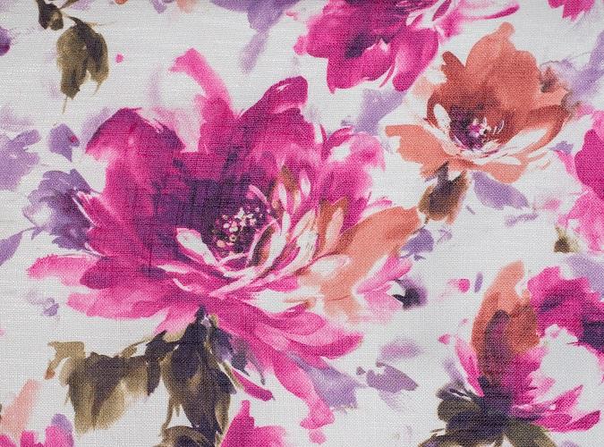 Renoir Table Linen, Pink Floral Table Linen