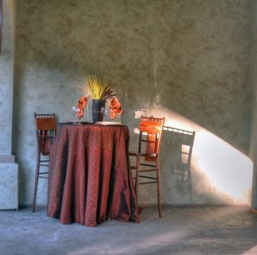 Rust Pintuck Table Linen, Bronze Pintuck Table Cloth