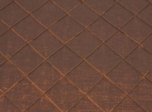 Rust Pintuck Table Linen, Bronze Pintuck Table Cloth