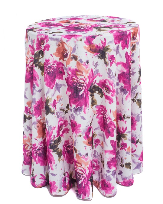 Renoir Table Linen, Pink Purple Floral Table Linen