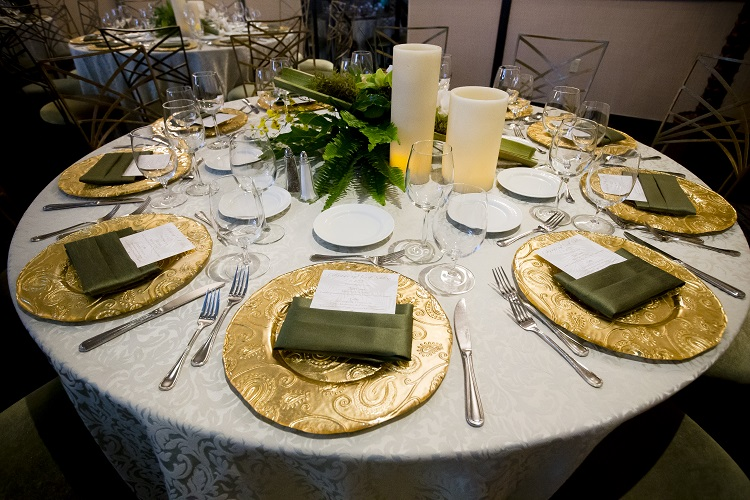 Taupe Waltz Table Linen, Beige Floral Table Cloth