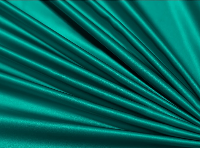 Teal Lamour Table Linen, Teal Satin Table Cloth