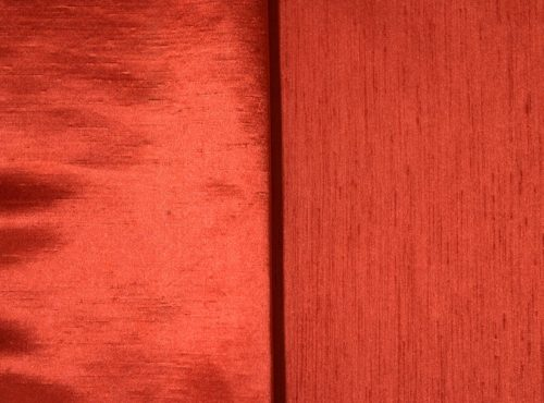 Terracotta Shantung Linen, Orange Shantung Table Cloth