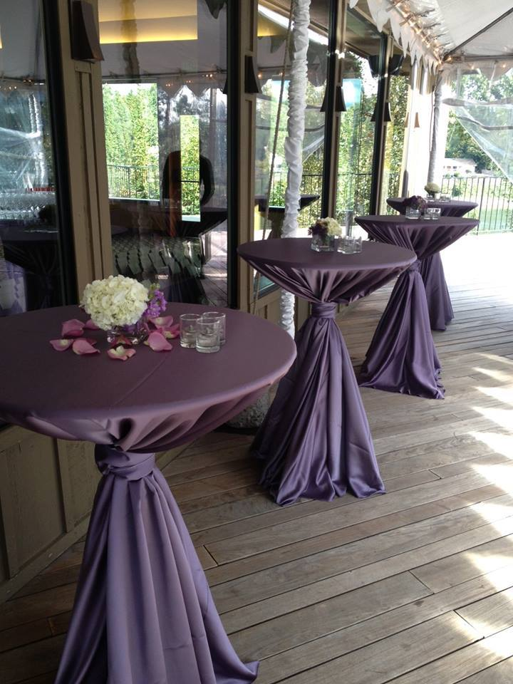 Victorian Lilac Lamour Table Linen, Purple Satin Table Cloth