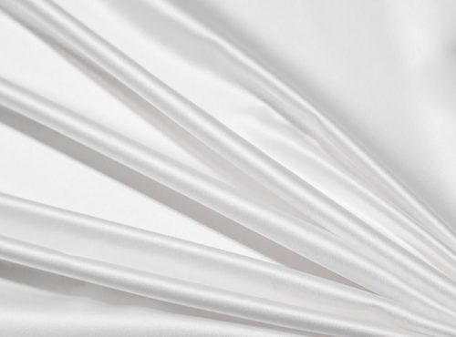 White Lamour Table Linen, White Satin Table Cloth