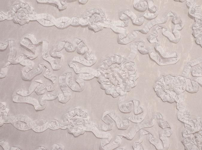 White Luxury Organza Table Linen
